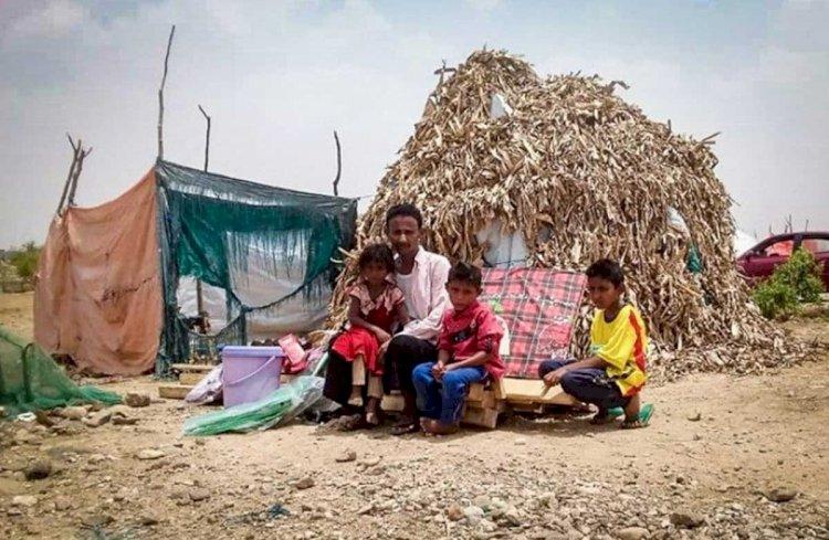 معاناة النازحين في اليمن .. الأوبئة تكدر حياتهم
